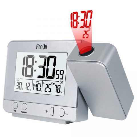 Digital Projector Alarm Clock Humidity