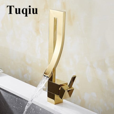 Basin Faucets Gold Bathroom Sink