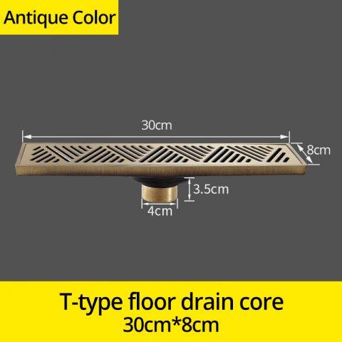 Antique Brass Art Carved Floor Drain