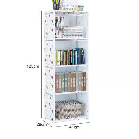 Simple Bookshelf Assembled Storage Shelf