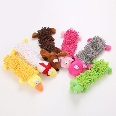 Plush Squeaker Dog Toys