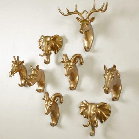 Animal Head Wall Art Hooks