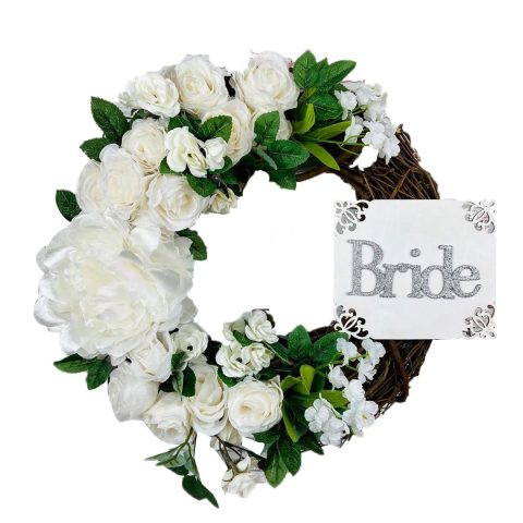 Artificial Flowers Wreath Peony Rose