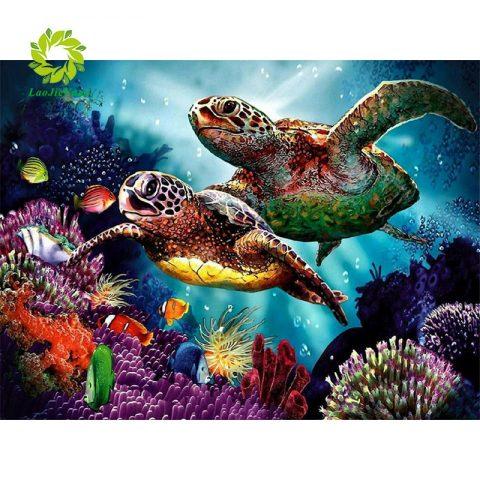Turtles Art Graphics Canvas Aquarium